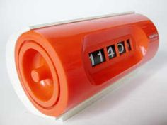 #orange alarm clock #vintage