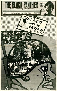 The Black Panther newspaper, September 1969. Cover design and illustration: Emory Douglas.