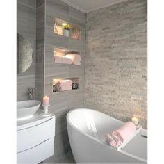 grey pink bathroom - Google Search Bathroom Design Luxury, Modern Bathroom Design, Small Bathroom Ideas Uk, Small Bathroom With Bath, Modern Luxury Bathroom, Small Bathroom Interior, Minimalist Bathroom Design, Bathroom Pink, Bathroom Marble