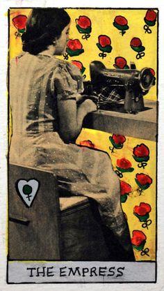 "Items similar to Tarot Card ""The Empress"" Gouache and Collage on Paper on Etsy La Danse Macabre, The Magician Tarot, Rider Waite Tarot, Online Tarot, Tarot Major Arcana, The Empress, Art For Art Sake, Oracle Cards, Tarot Decks"