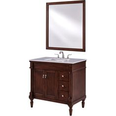 Elegant Furniture Wagner 42 in. Single Bath Vanity w/ 6 Drawers 1 Shelf 2 Doors; 42 Inch Vanity, 36 Inch Bathroom Vanity, Bathroom Vanity Cabinets, Vanity Sink, White Bathroom, Bathroom Furniture, Unfinished Bathroom Vanities, Bathroom Vanities For Sale, Home Depot Bathroom