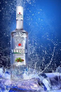 Creative vodka packaging label and bottle design. Brand identity design