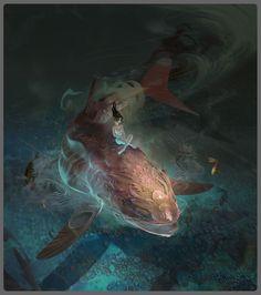 Fish Time, Eduardo Pena on ArtStation at https://www.artstation.com/artwork/xdEnW