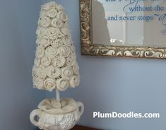 Decorating A Bedroom With Burlap | had burlap roses fever for awhile, but after this topiary with burlap ...