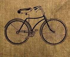 Instant Download Vintage Bicycle  Download and Print  by room29, $1.00
