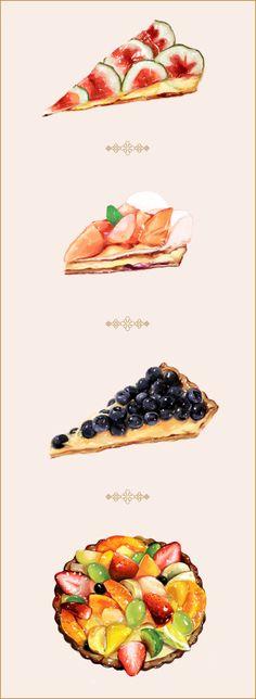 美食 甜品 蛋糕 手绘 插画@爱甜茜茜采集到美食绘图(394图)_花瓣美食