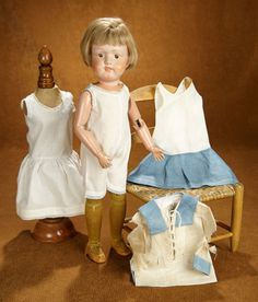 The Reaches of the Street: 438 American Wooden Doll by Schoenhut with original Shoes and Wig Old Dolls, Antique Dolls, Wooden Dolls, Wigs, Hobbies, Auction, Flower Girl Dresses, Costumes, The Originals