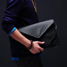 Cool style men envelope clutch large fashion black leather hand bags luxury Handbags ipad cases man bag for work big purses