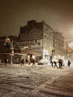 Winter - New York City - Snowy night on the Lower East Side