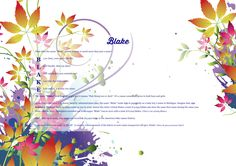 The #namemeaning of #Blake using Watercolor Leaves from the project pack Nature. Unique #giftideas and #personalizedgifts for #babynames