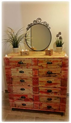 Pallet #Dresser With12 Drawers | 101 Pallets