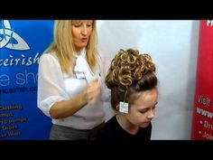 ▶ How to Put on a Caitlyn Loose Curl Irish Dancing Bun Wig - YouTube