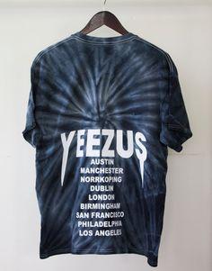 UNISEX Yeezus Tour tie dye T Shirt tour dates by TheGoldenLabel