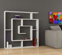 This labyrinth bookshelf is a functional piece of art #decor #design #bookshelf #bookcase #livingroom