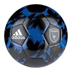 San Jose Earthquakes adidas Authentic Soccer Ball - Black/Royal - $19.99