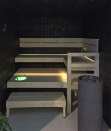 Sauna Linear includes a projector 4 pieces of 2 meter linears and a fibre set with 8 feeding fibres for linears and 2 short fibres for other fittings. Sauna Lights, Linear Lighting, Saunas, Lighting Solutions, Bunk Beds, Led, Furniture, Benches, Home Decor