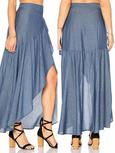 35 Long Skirts To Wear Now low skirt skirt - craftIdea. Dress Making Patterns, Skirt Patterns Sewing, Skirt Outfits, Dress Skirt, Simple Dresses, Summer Dresses, Modelos Fashion, Mode Hijab, Blouse Styles