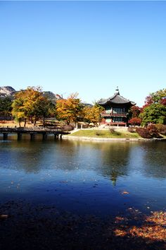 Palace garden, Seoul, Korea