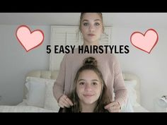 5 Easy Hairstyles !! - YouTube