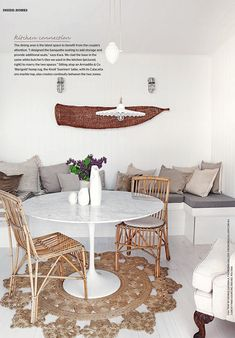 Inside Out Magazine - dinning table and chairs