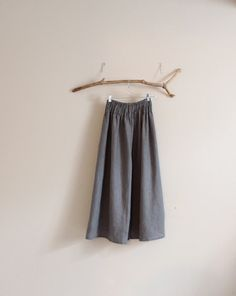 plus size custom linen shirred waist wide leg pants  by annyschooecoclothing,