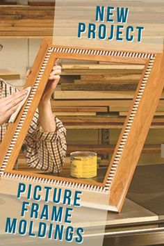 A table saw is the only tool you need to create a handsome cove-and-dentil picture frame! Suitable for art or portraits, it makes an attractive holiday gift.  #learnatrockler #tablesawproject #tablesaw #pictureframediy #diymoldings Cool Woodworking Projects, Teds Woodworking, Wood Projects, Picture Frame Molding, Picture Frames, Dentil Moulding, Box Joints, Wood Plans, Crafts To Sell