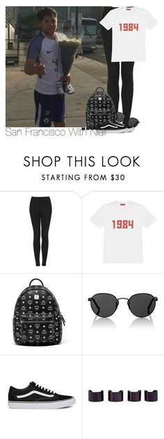 """""""Niall~#99"""" by laurenbeth15 ❤ liked on Polyvore featuring Topshop, Gosha Rubchinskiy, MCM, Oliver Peoples, Vans, Maison Margiela and NiallHoran"""