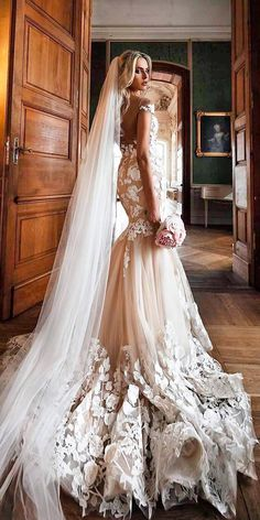 Designer Highlight: Milla Nova Wedding Dresses ❤ mermaid lace with sleeves cappuccino open back milla nova wedding dresses ❤ See more: http://www.weddingforward.com/milla-nova-wedding-dresses/ #weddingforward #wedding #bride