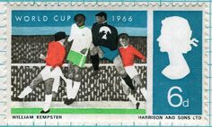 British 1966 WORLD CUP stamp