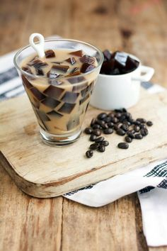 "Longing for a glass of something icy cold this summer? Have both in one glass with this unusual treat — Your favorite milk with JAVITA COFFEE ""ice cubes"" that slowly melt and swirl."