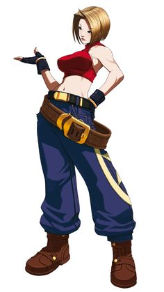 Blue Mary from King of Fighters 2003.