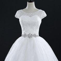 Lace Vintage Plus Size Wedding Dresses Bridal Dress Robe Short Ivory Wedding Dress, Beaded Wedding Gowns, Lace Ball Gowns, Lace Mermaid Wedding Dress, Bridal Wedding Dresses, White Wedding Dresses, Cheap Wedding Dress, Lace Dress, Plus Size Bridal Dresses