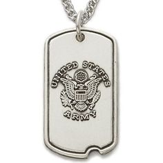 3b4c5d84acb8 Sterling Silver U S Army Military Protect My Soldier Dog Tag with Cross on  Back Men s Religious Jewelry Dog Tag Jewelry Gift Boxed w Chain 24