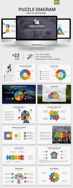 Puzzle Diagram - #Powerpoint - #Business PowerPoint Templates Download here: https://graphicriver.net/item/puzzle-diagram-powerpoint/19950558?ref=alena994