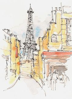Sketchbook Wandering : France