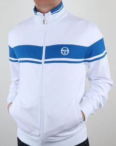 d1785bb9a28 Sergio Tacchini Masters Track Top White Royal