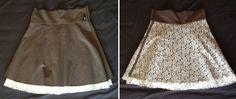 Dos faldas - una prenda. De dentro para fuera. De MimetikBcn