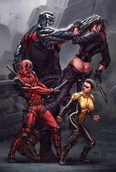 Awesome Deadpool movie fan art.
