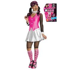 Complete Draculaura Womens Costume - Bundled costume with the wig and makeup kit! #officialprincesscostumes #monsterhigh