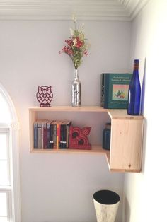 The Turning Point--DIY Corner Shelves