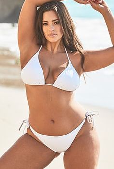 Try out the Ashley Graham x Swimsuits For All Elite Black Triangle Bikini and more at Swimsuits for All! From stylish tankinis to classic bikinis, we've got what you're looking for. Ashley Graham, White Triangle Bikini, White Bikini Set, Sexy Bikini, Bikini Swimwear, Halter Bikini, Monokini Swimsuits, Photo Summer, Bikini String