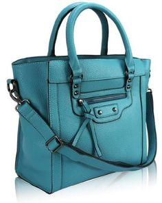 Ladies Teal Blue Top Handle Tote Handbag KCMODE: Amazon.co.uk: Clothing