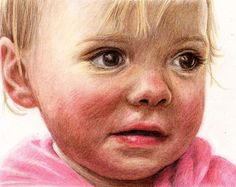 Colour pencil drawing of Jessica by Sharon Hall of FaceArt Portraits