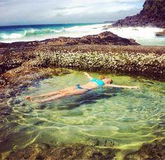 Snapper Rocks in Coolangatta, Australia ~ A rock pool created by the ocean >>> This looks awesome Australia Tourism, Visit Australia, Queensland Australia, South Australia, Australia 2018, Victoria Australia, Gold Coast Australia, Western Australia, Airlie Beach