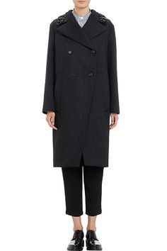 Marni Embellished Collar Double-Breasted Coat, $2795, available at Barneys New York.