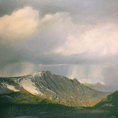 Jim Bagley, Spring in Yosemite, oil, 48 x 48.