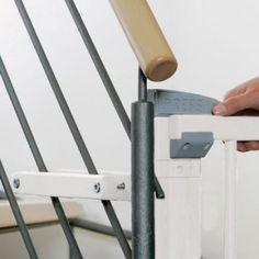 und Treppenschutzgitter Höhe 85 cm einrollbar 50-140 Weiß Impag Rollo Tür