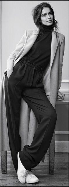 "Amanda Wellsh in ""Territorio Neutral, Katherine Hepburn Jr.  she wore this style."