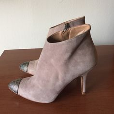 Zara Basic Suede Cap toe Booties Zara Basic Suede Booties.  Size 38..runs small these would fit a 7 1/2. Zara Shoes Ankle Boots & Booties