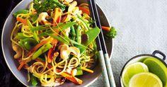 Turkey & cashew noodle stir-fry